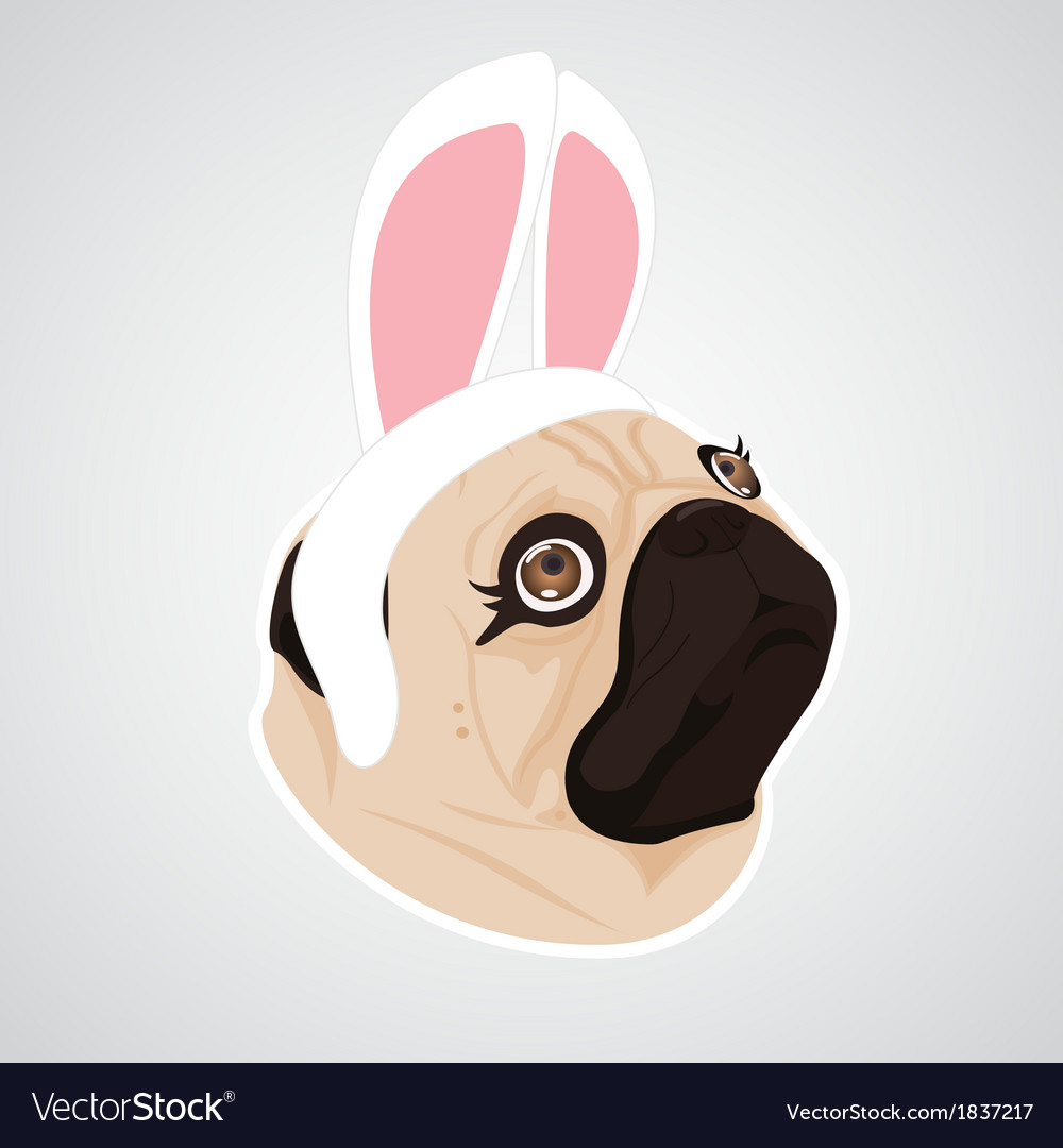 Lady dog rabbit vector | Price: 1 Credit (USD $1)