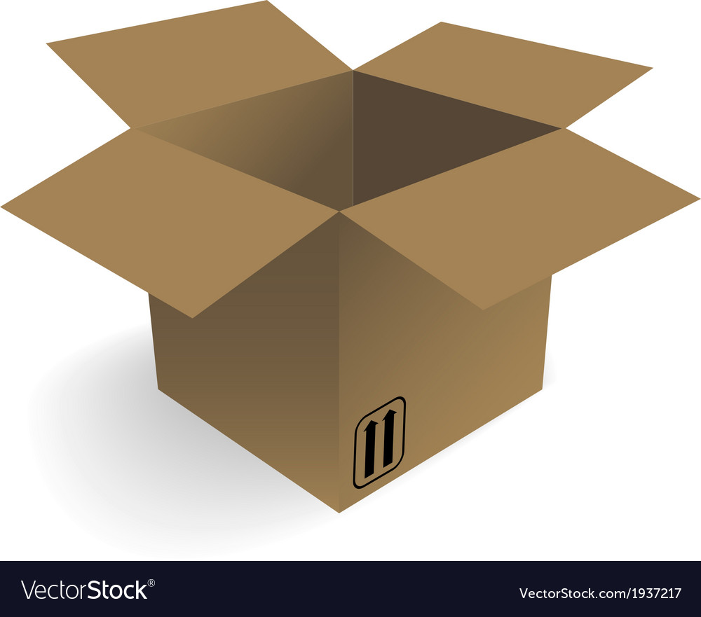 Opened box vector | Price: 1 Credit (USD $1)