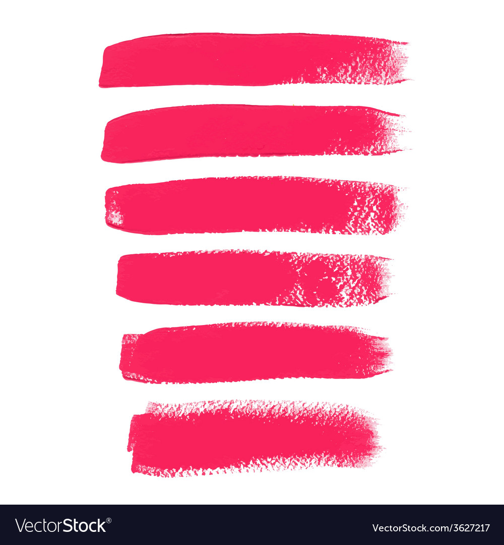 Pink ink brush strokes vector | Price: 1 Credit (USD $1)