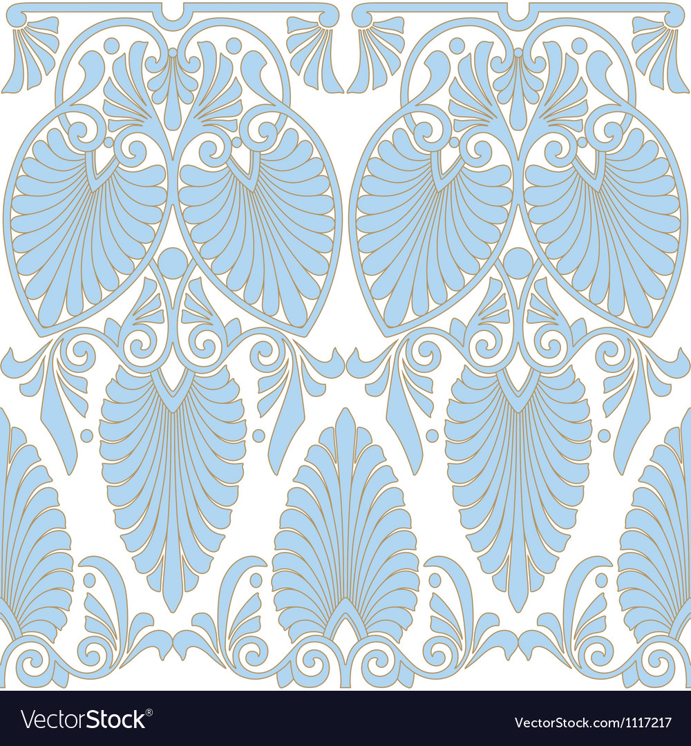 Seamless greek art nouveau pattern vector | Price: 1 Credit (USD $1)