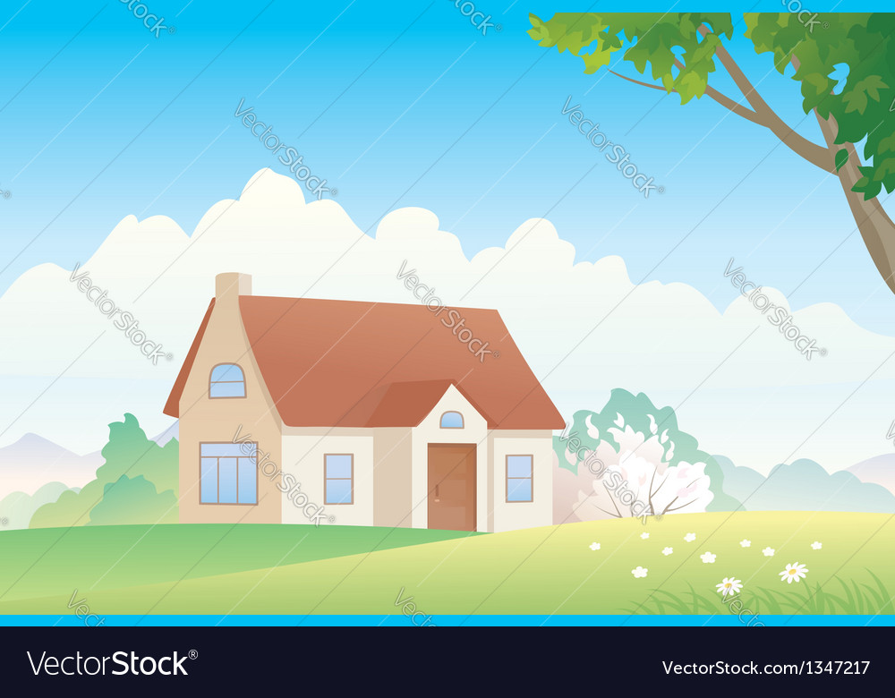 Spring house vector | Price: 3 Credit (USD $3)