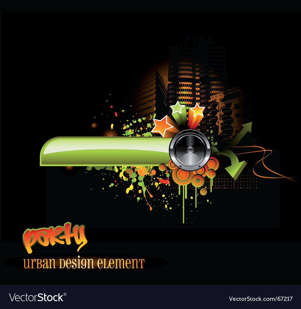 Urban party design vector | Price: 1 Credit (USD $1)