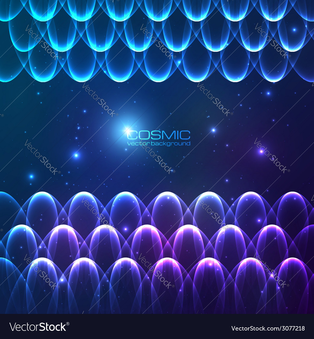 Abstract shining lines cosmic background vector | Price: 1 Credit (USD $1)