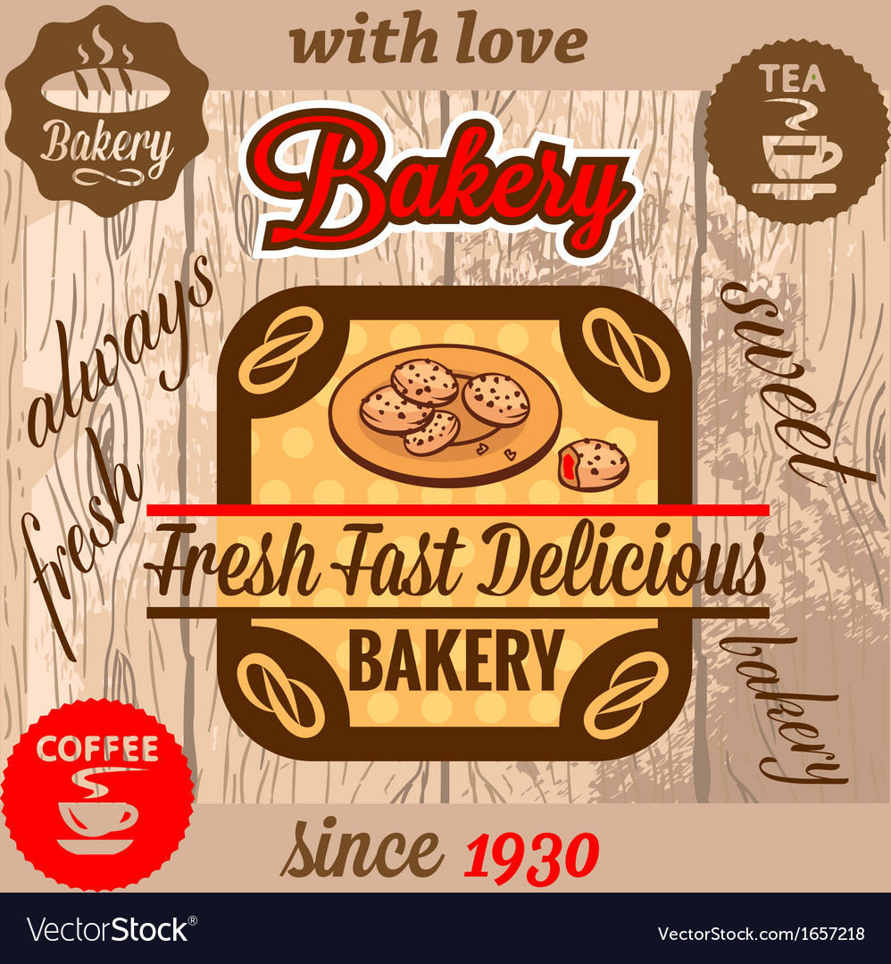 Bakery menu vector | Price: 1 Credit (USD $1)