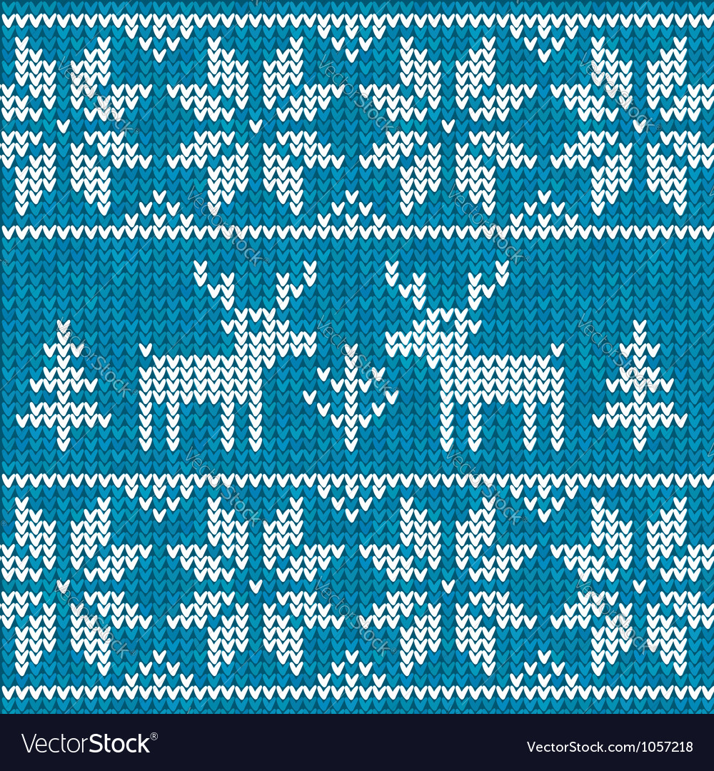 Blue sweater with deer vector | Price: 1 Credit (USD $1)