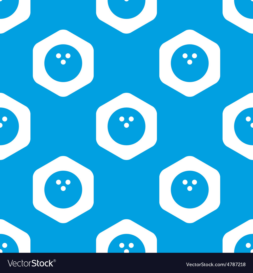 Bowling hexagon pattern vector | Price: 1 Credit (USD $1)