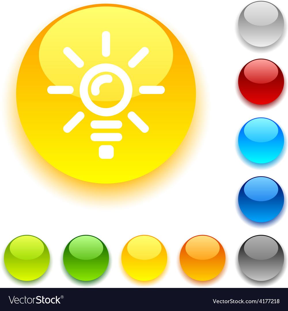 Bulb button vector | Price: 1 Credit (USD $1)