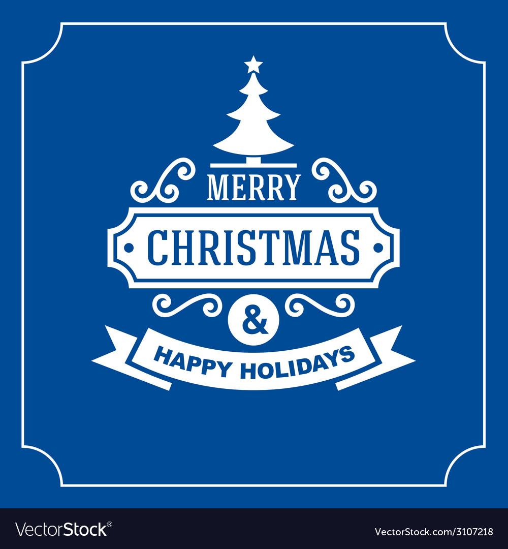 Christmas retro typographic background vector | Price: 1 Credit (USD $1)