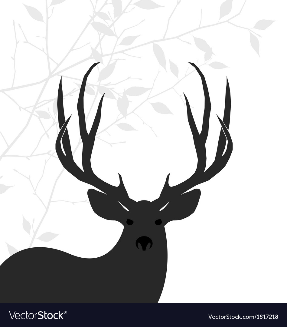 Deer background vector | Price: 1 Credit (USD $1)