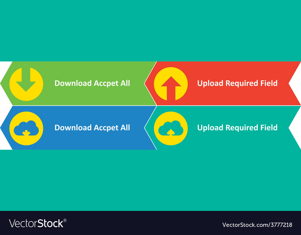 Download upload and cloud download upload buttons vector | Price: 1 Credit (USD $1)