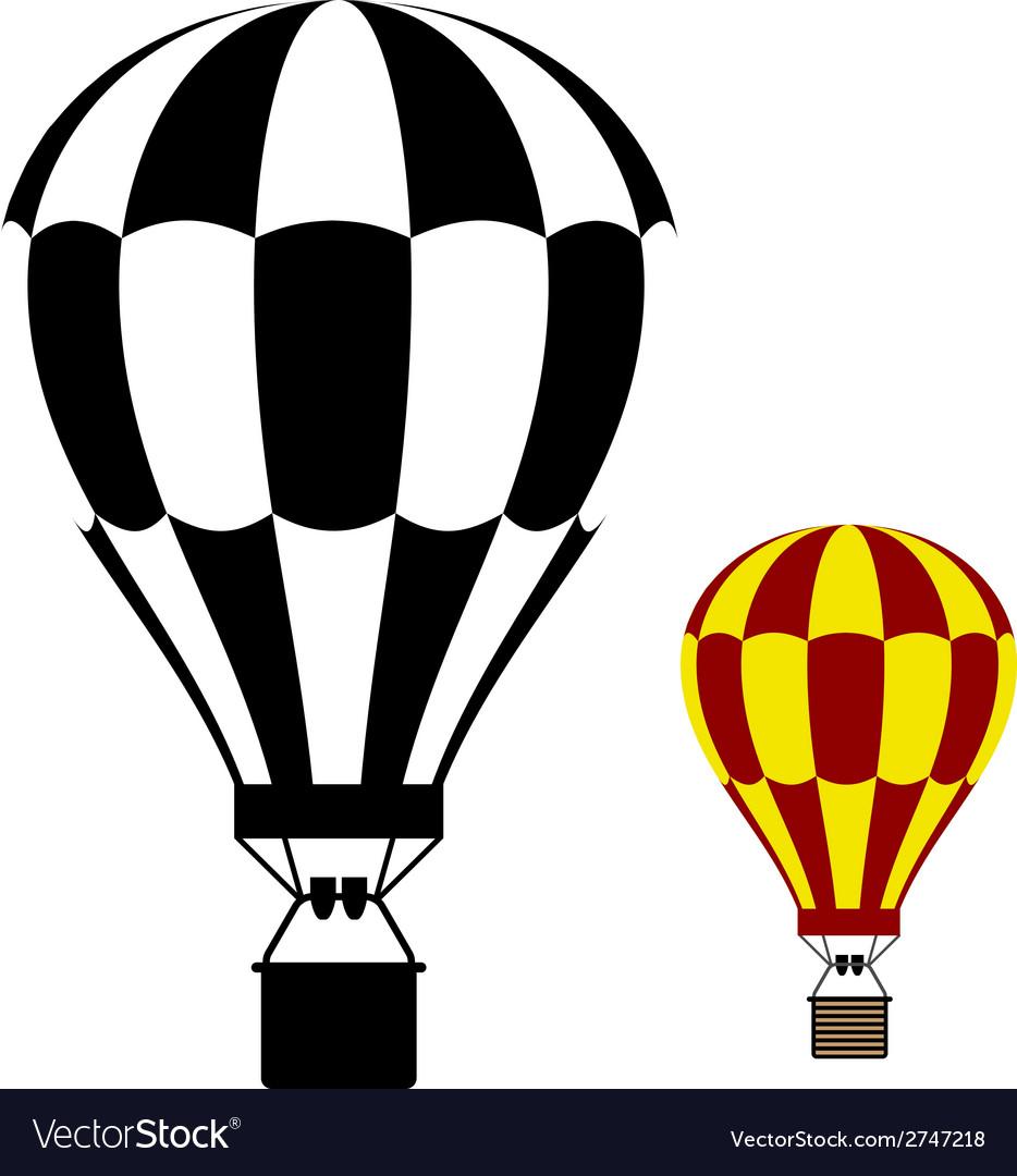 Hot air balloon black symbol vector | Price: 1 Credit (USD $1)