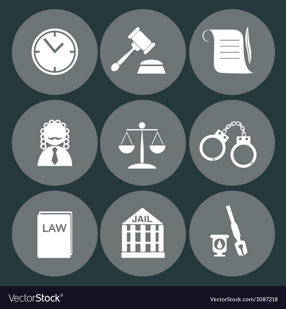 Law judge icon set justice sign vector | Price: 1 Credit (USD $1)