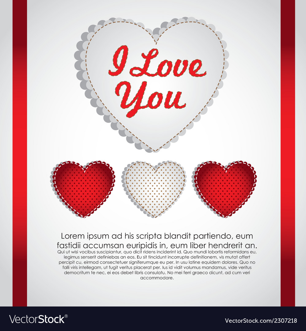 Love card with heartshaped balloons vector | Price: 1 Credit (USD $1)