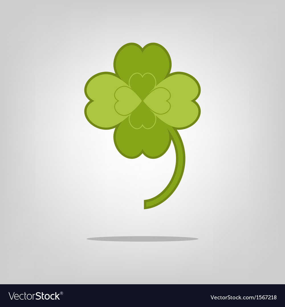 Lucky clover with four leaves vector | Price: 1 Credit (USD $1)