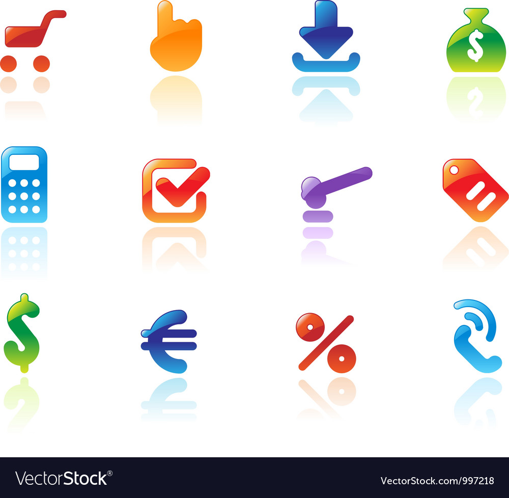 Perfect icons for online trade vector | Price: 1 Credit (USD $1)