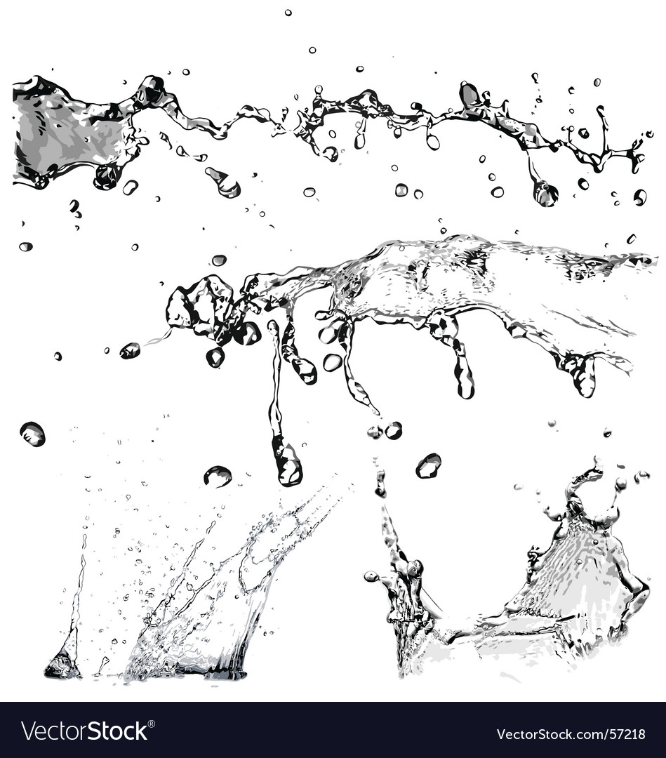 Water splashes vector | Price: 1 Credit (USD $1)