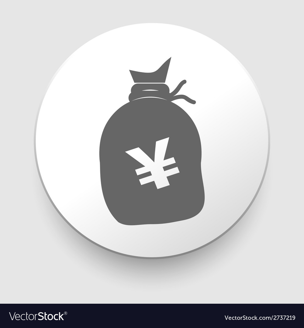 A big sack with yen currency sign vector | Price: 1 Credit (USD $1)