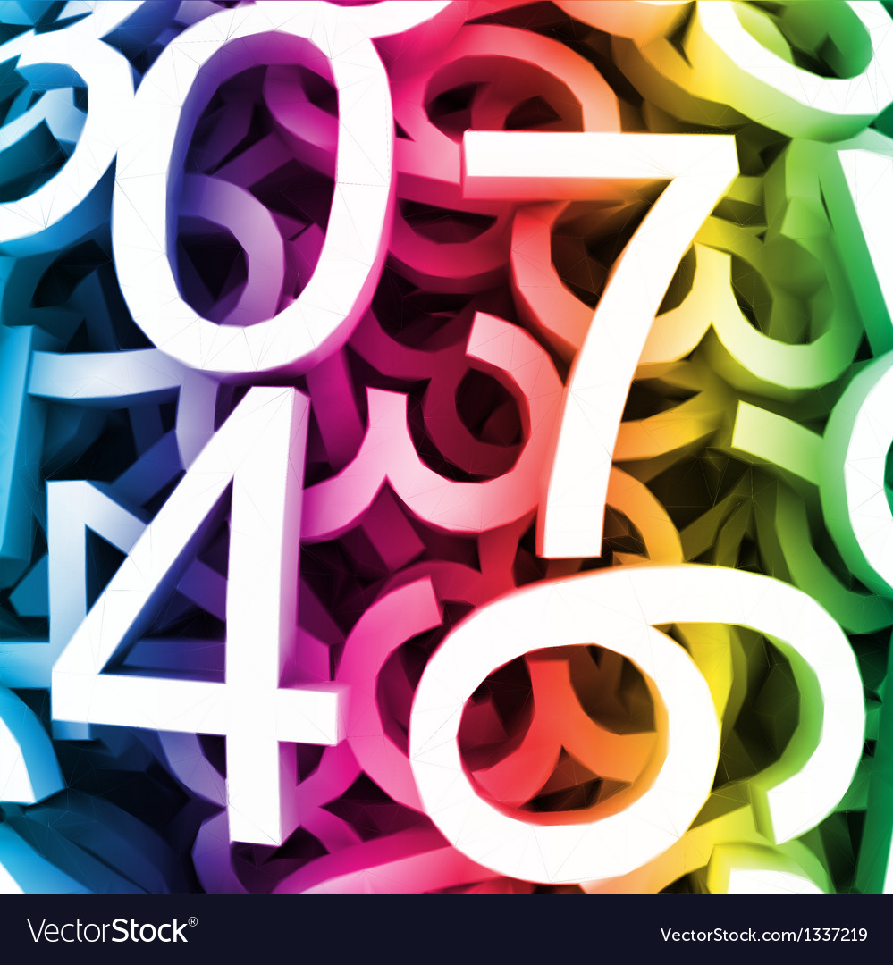 Abstract colorful digital numbers vector   Price: 1 Credit (USD $1)