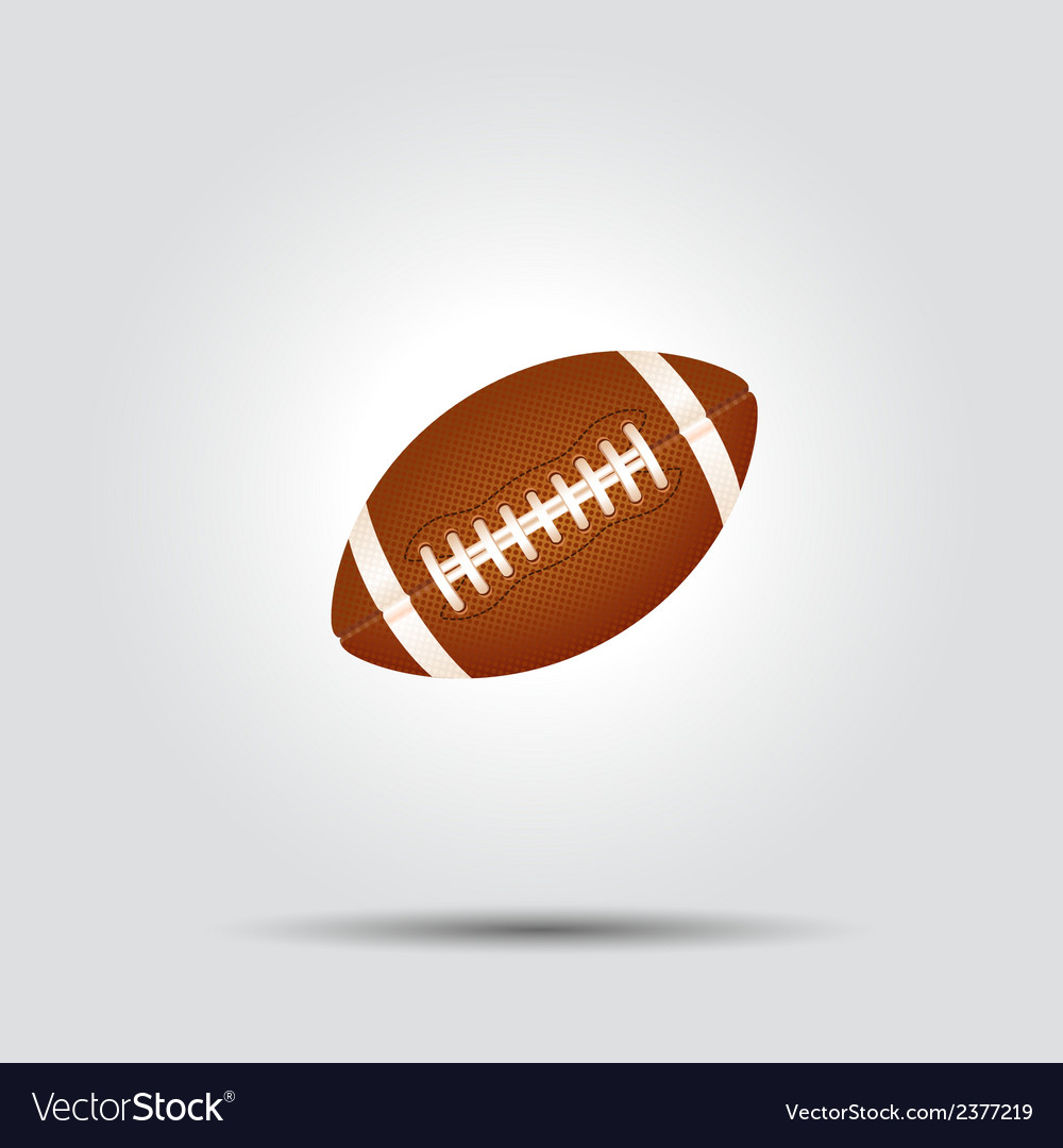 American football ball isolated on white with vector | Price: 1 Credit (USD $1)