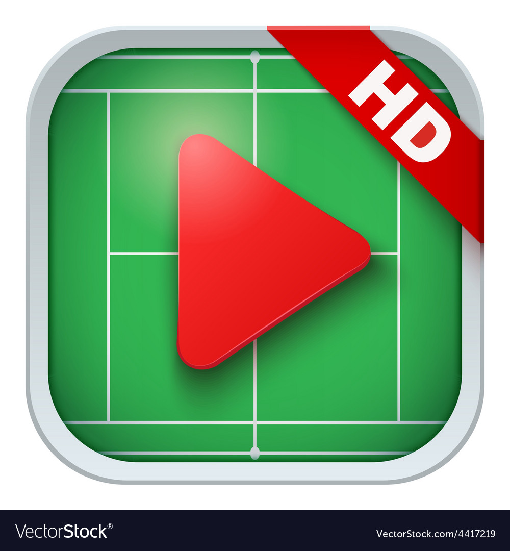 Application icon for live sports broadcasts or vector | Price: 1 Credit (USD $1)