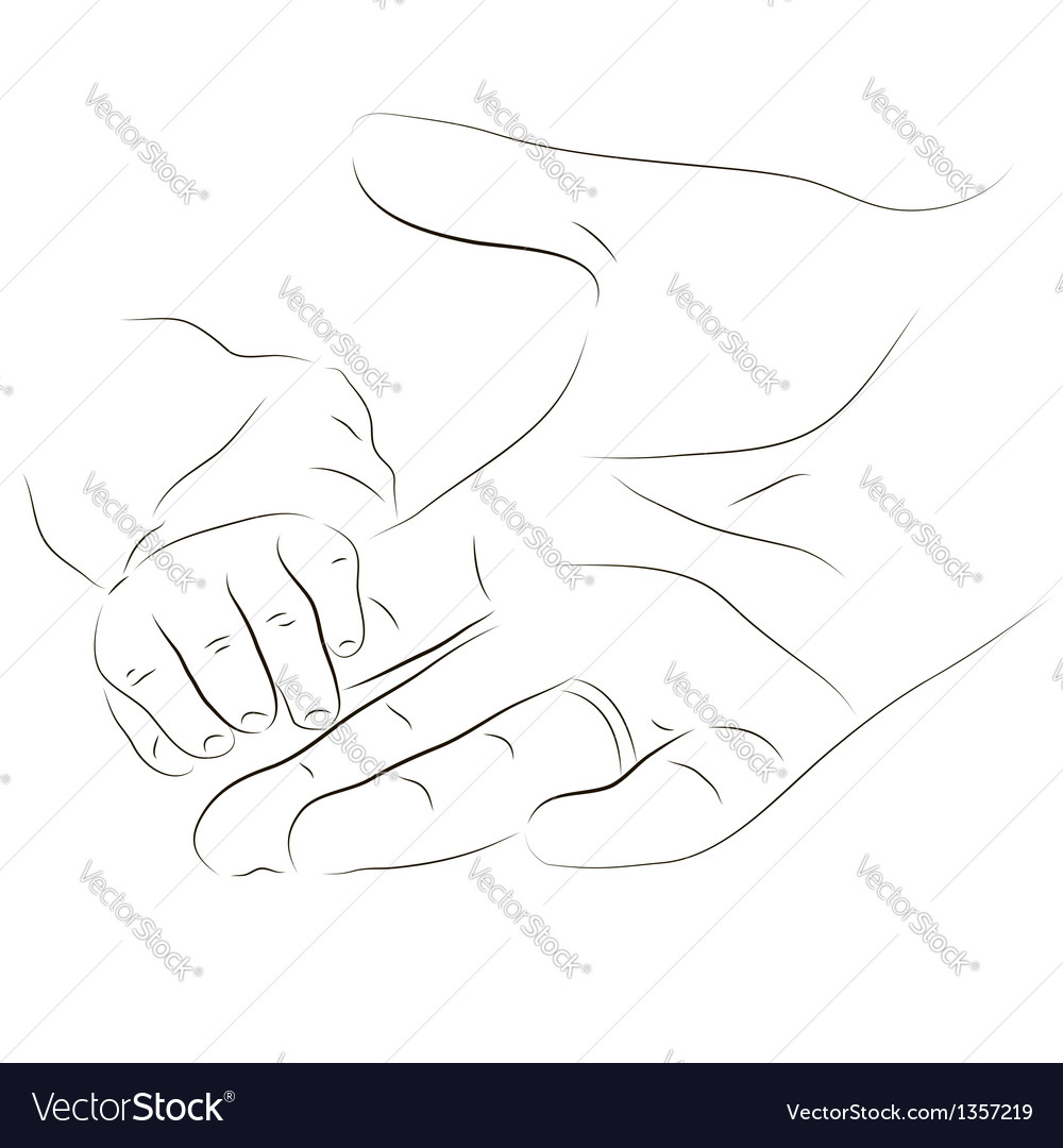 Babys hand vector | Price: 1 Credit (USD $1)