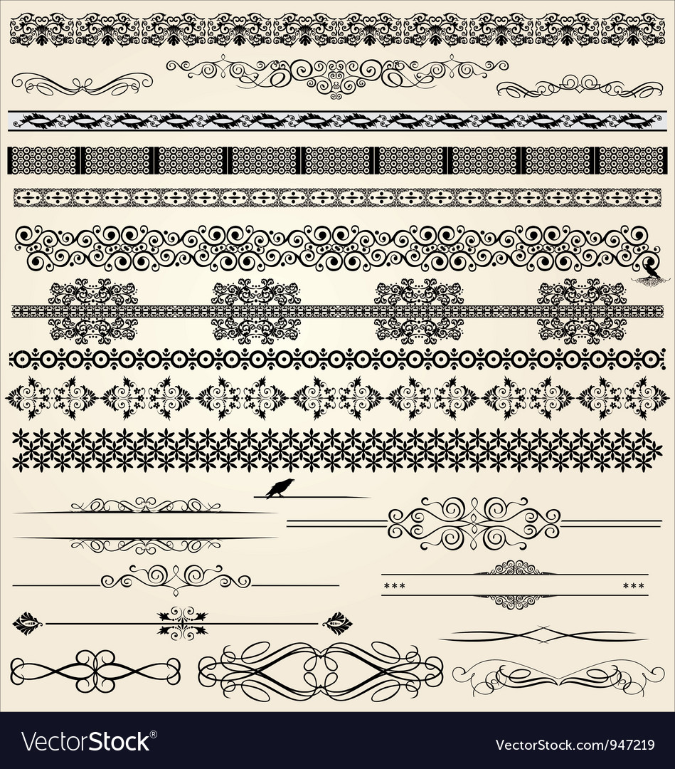 Calligraphic and decor design elements vector | Price: 1 Credit (USD $1)