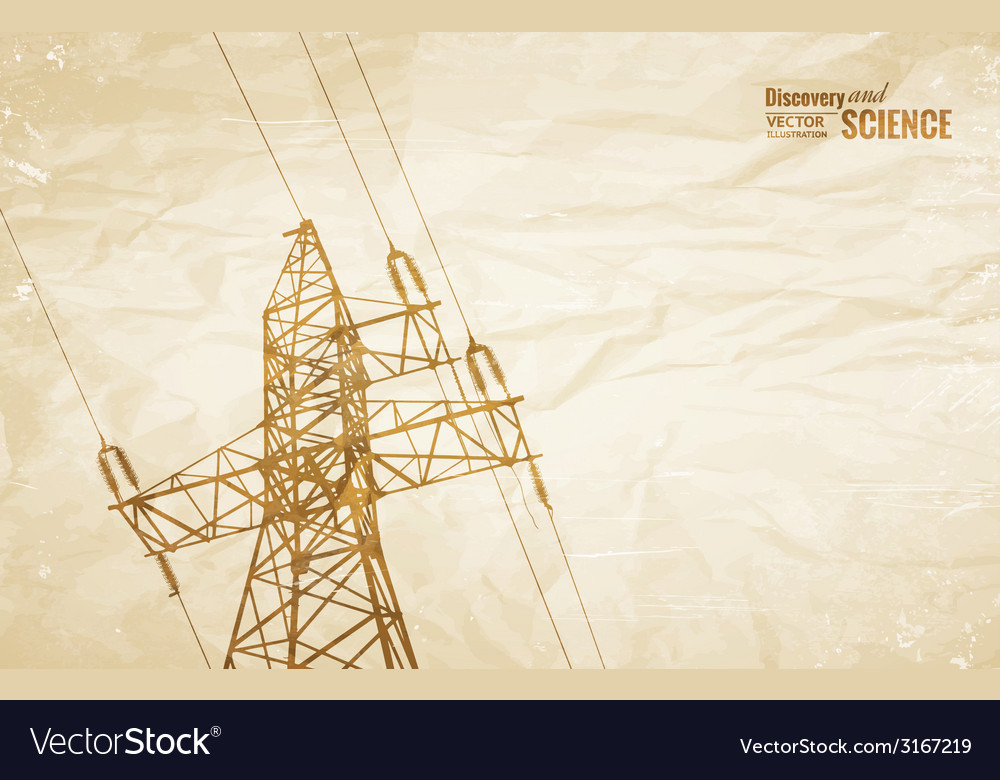 Electrical transmission line vector | Price: 1 Credit (USD $1)