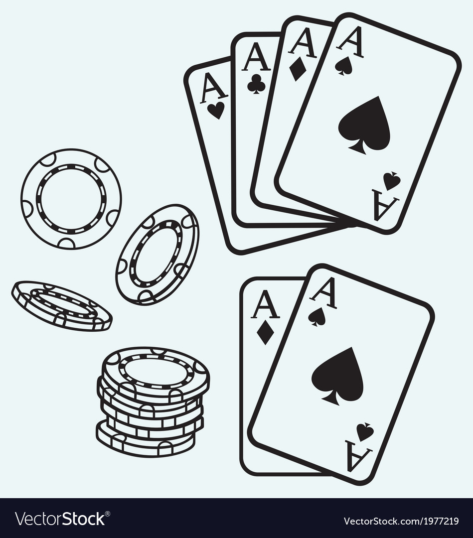 Gambling cards and chips vector | Price: 1 Credit (USD $1)