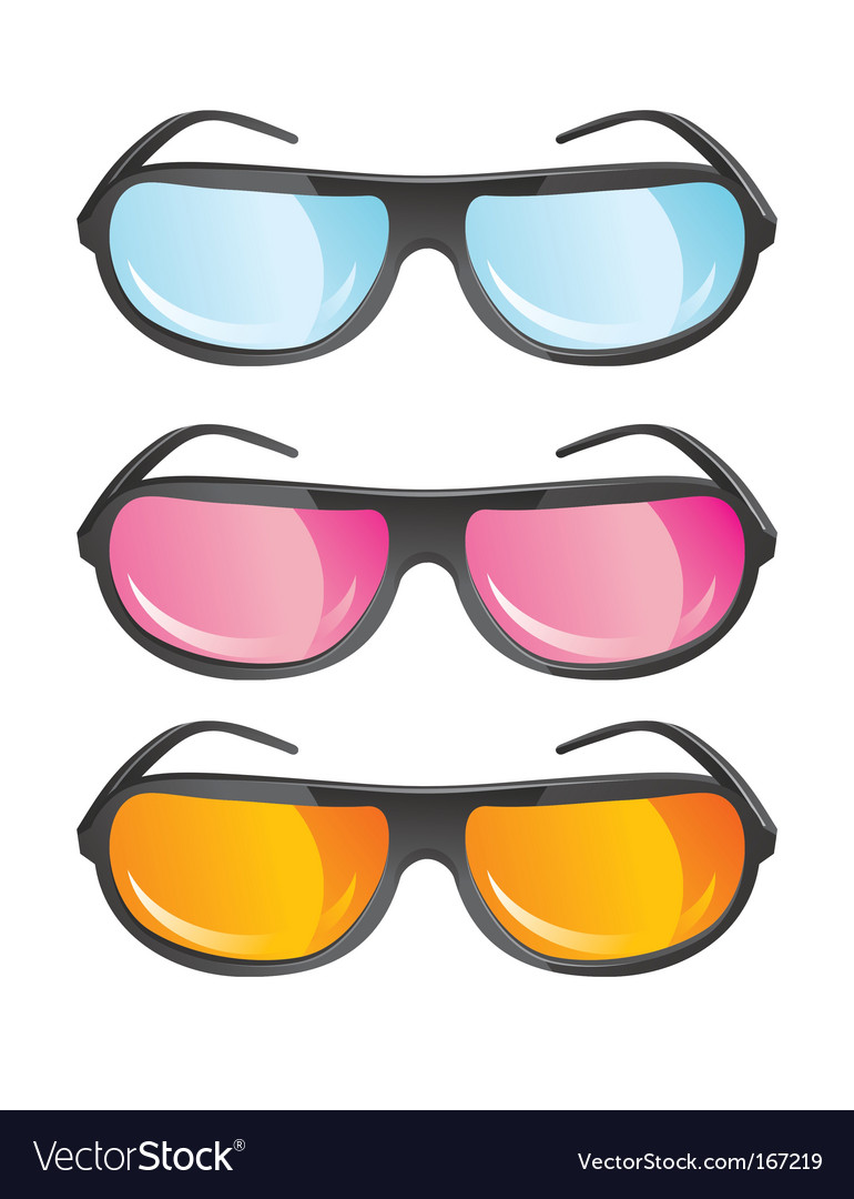 Glasses with colored lens vector | Price: 1 Credit (USD $1)
