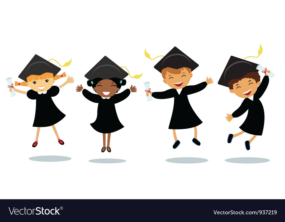 Happy graduates vector | Price: 3 Credit (USD $3)