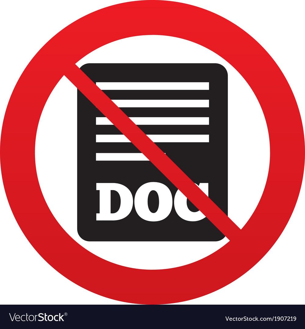 No file document icon download doc button vector | Price: 1 Credit (USD $1)