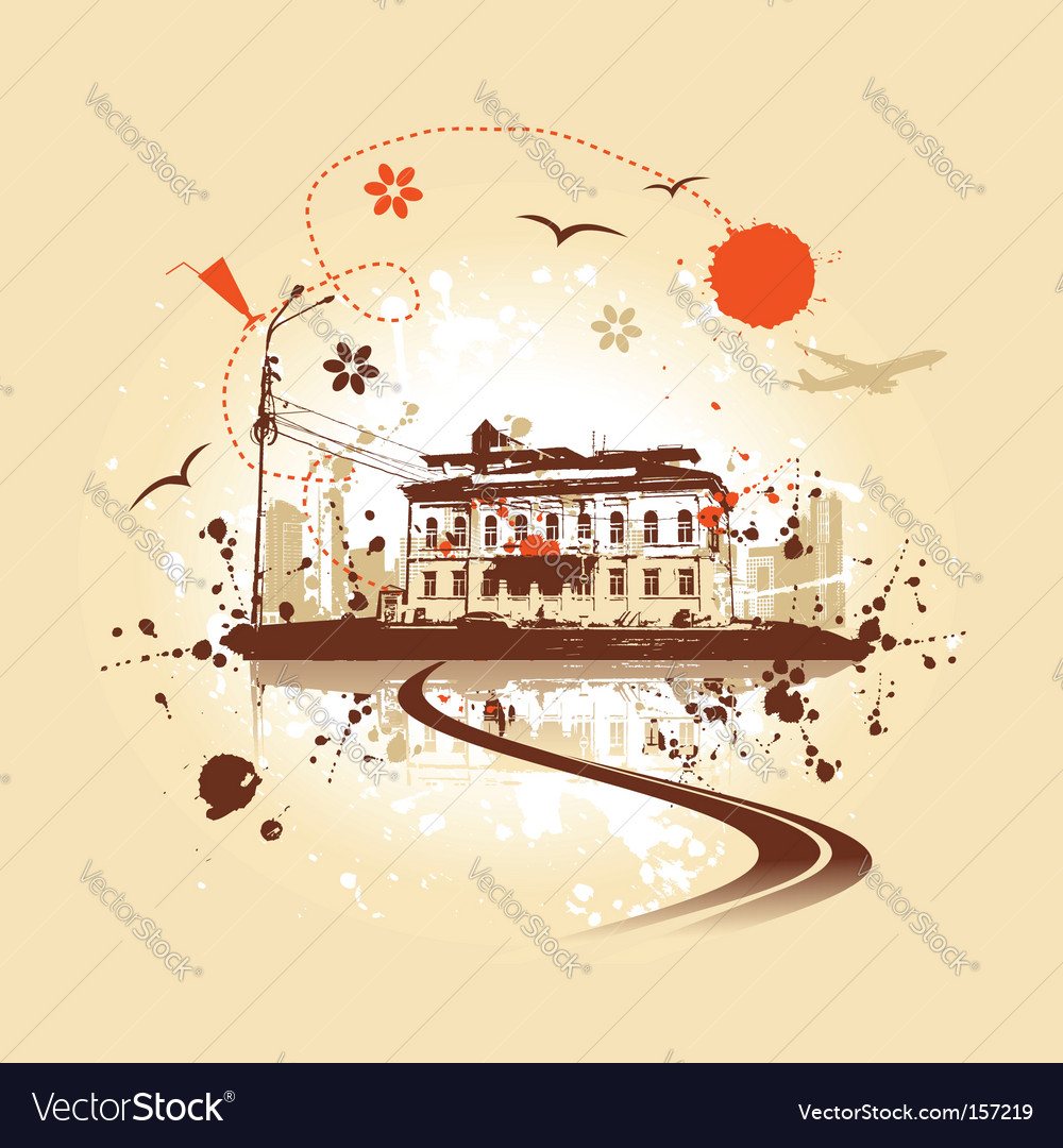 Old house urban art vector | Price: 1 Credit (USD $1)