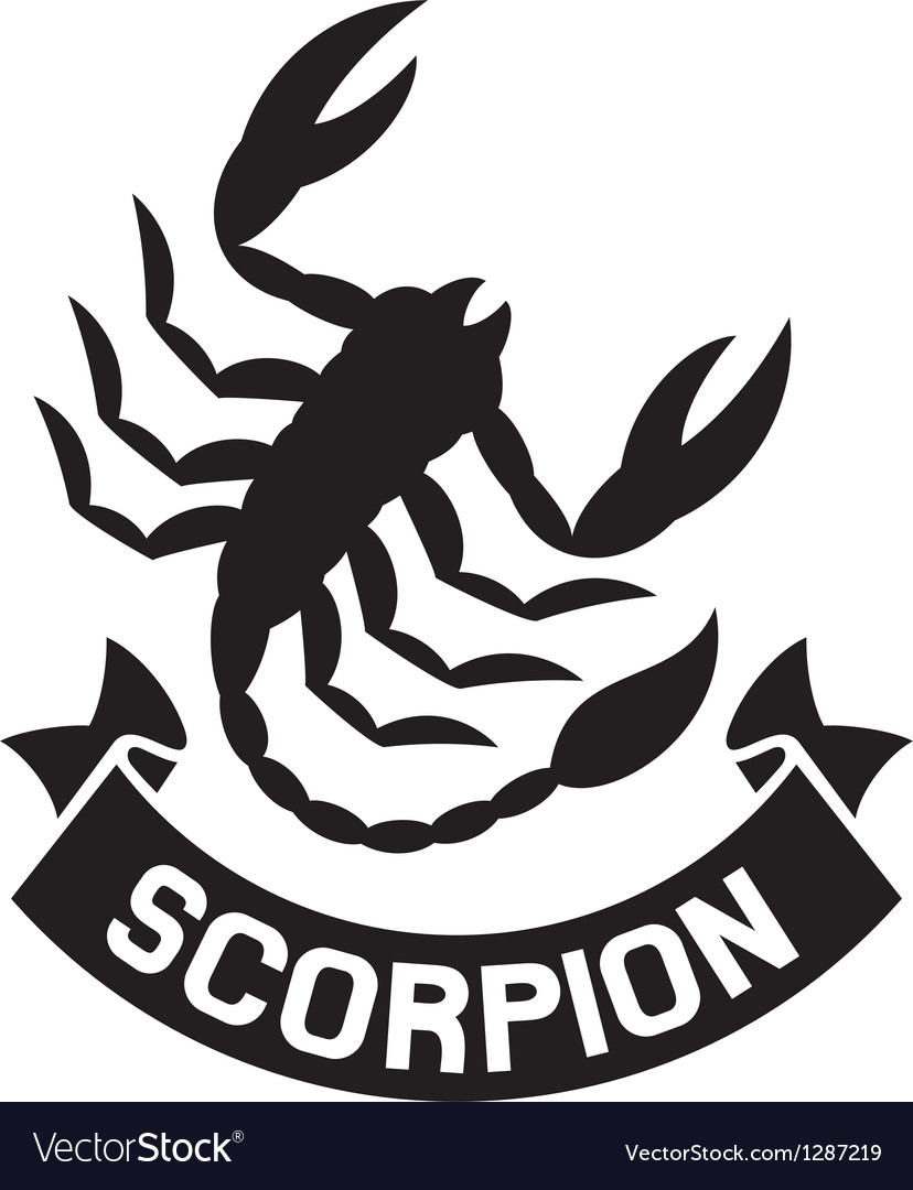 Scorpion label vector | Price: 1 Credit (USD $1)