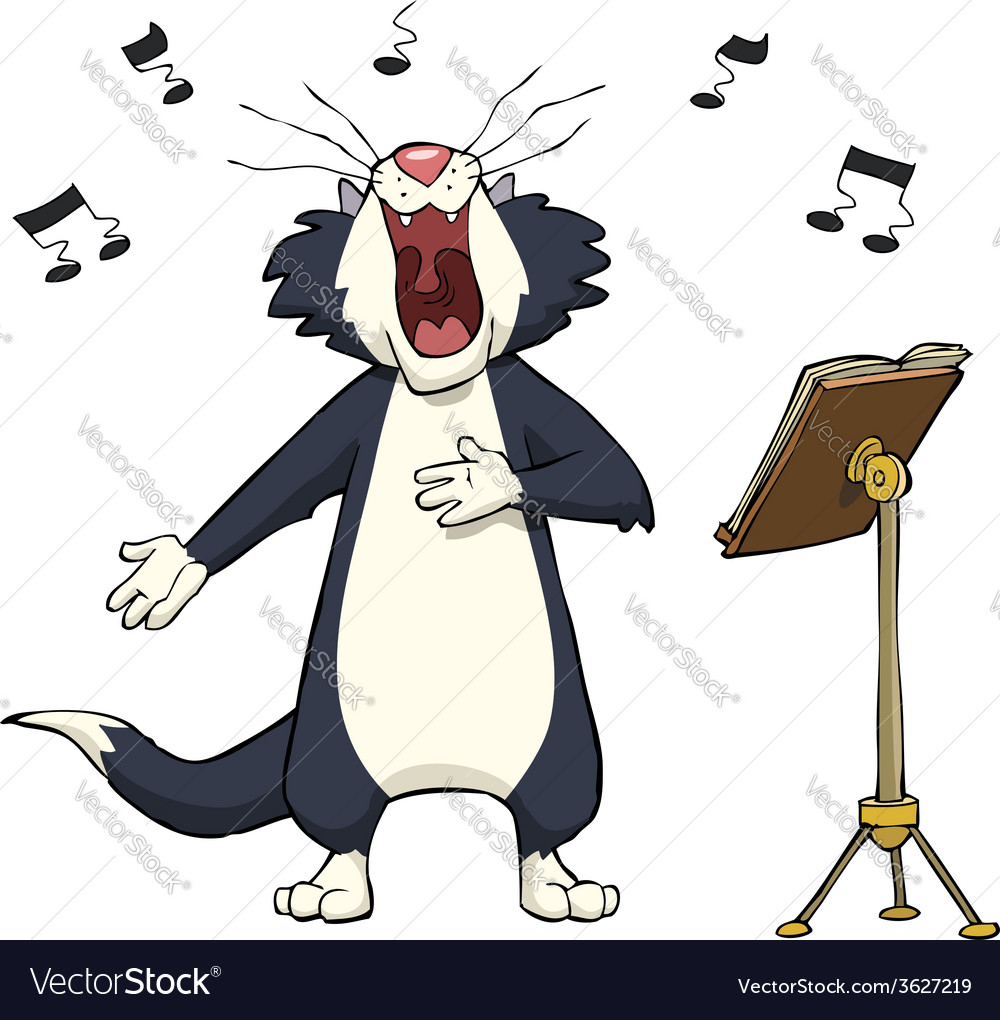 Singing cat vector