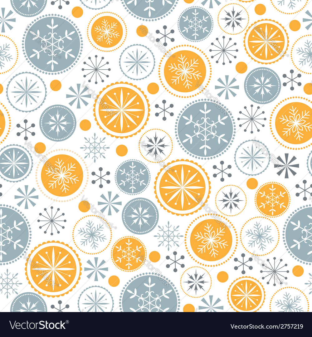 Snowflake pattern on white background vector | Price: 1 Credit (USD $1)