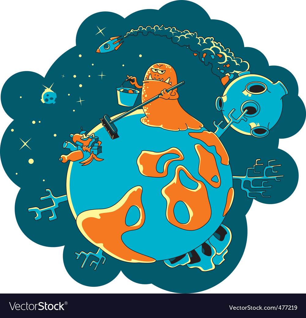 Space pollution vector | Price: 1 Credit (USD $1)
