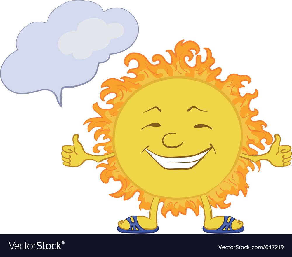 Sun smiley vector | Price: 1 Credit (USD $1)