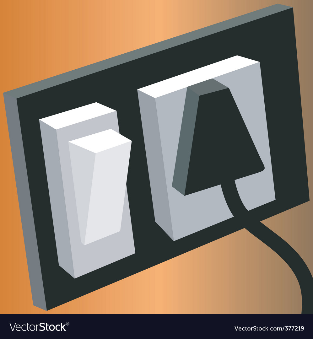 Switches and plug vector | Price: 1 Credit (USD $1)