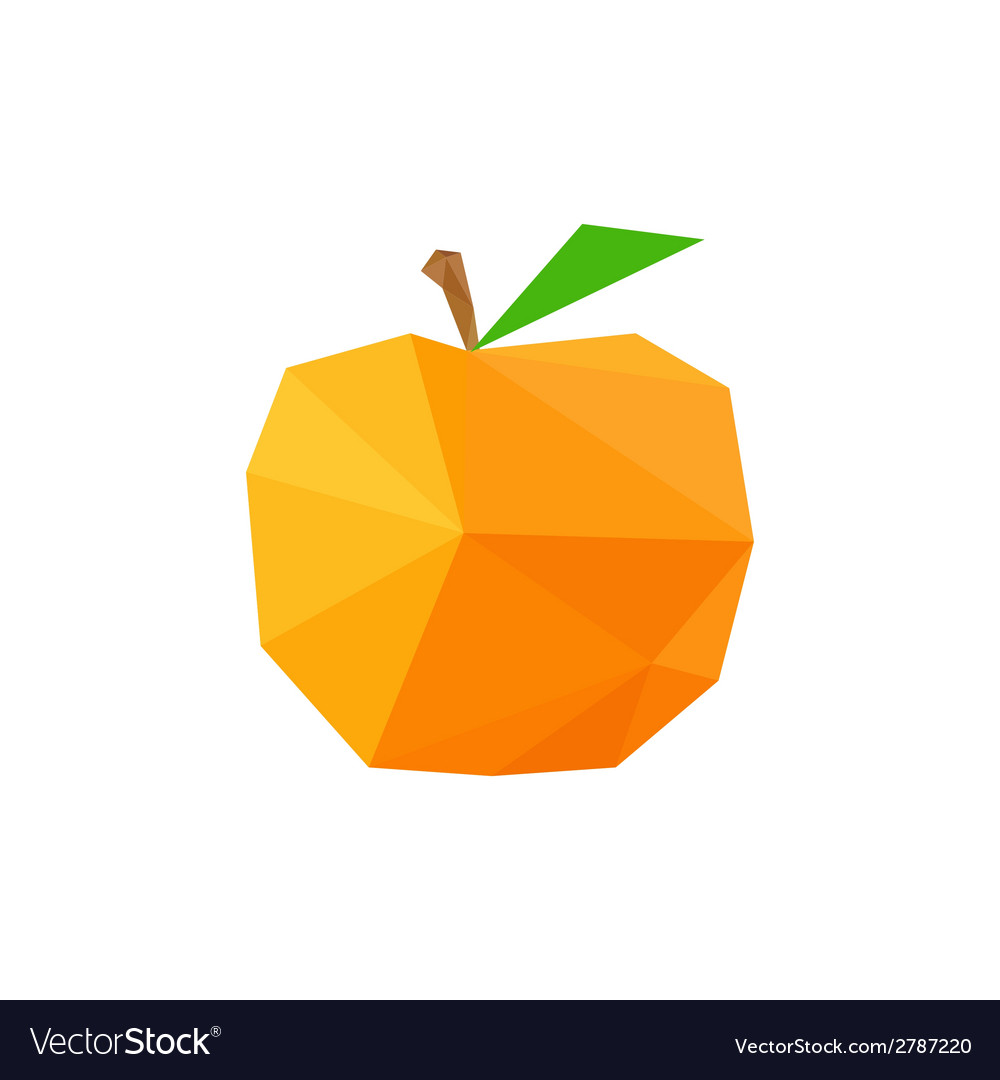 Abstract origami peach vector | Price: 1 Credit (USD $1)