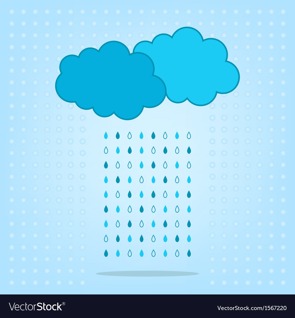 Clouds with rain isolated on the background vector | Price: 1 Credit (USD $1)