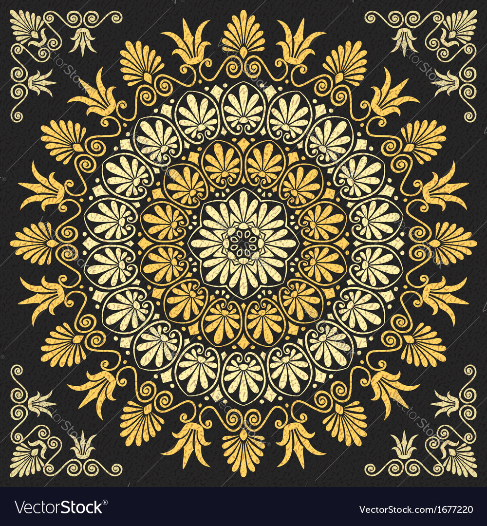 Floral greek ornament vector