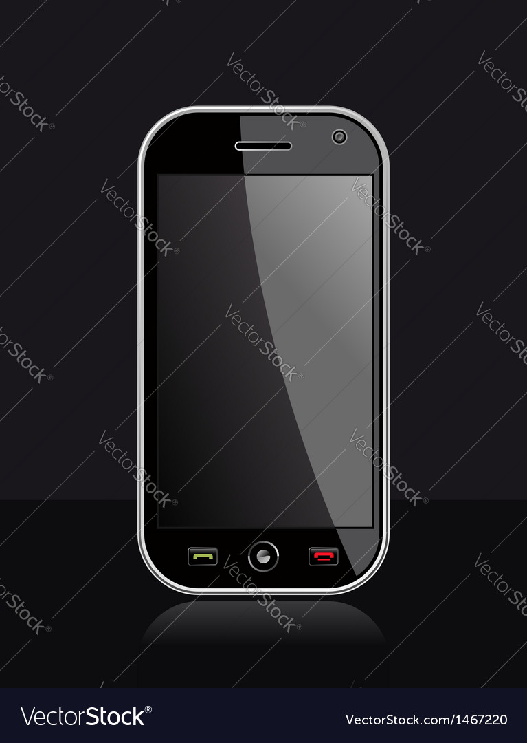 Generic smart phone on black vector | Price: 1 Credit (USD $1)