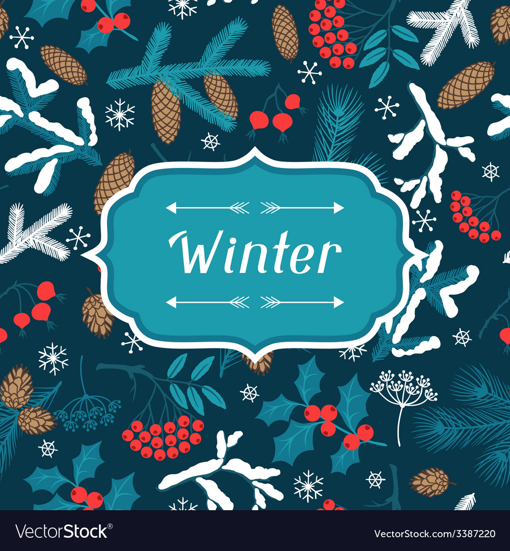 Merry christmas background with stylized winter vector | Price: 1 Credit (USD $1)