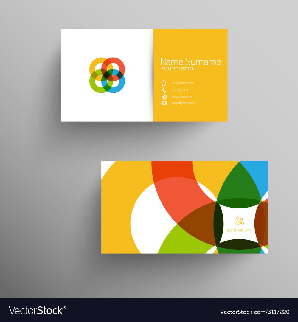 Modern business card template with flat user vector | Price: 1 Credit (USD $1)