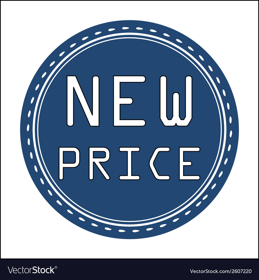 New price icon badge label or sticke vector | Price: 1 Credit (USD $1)