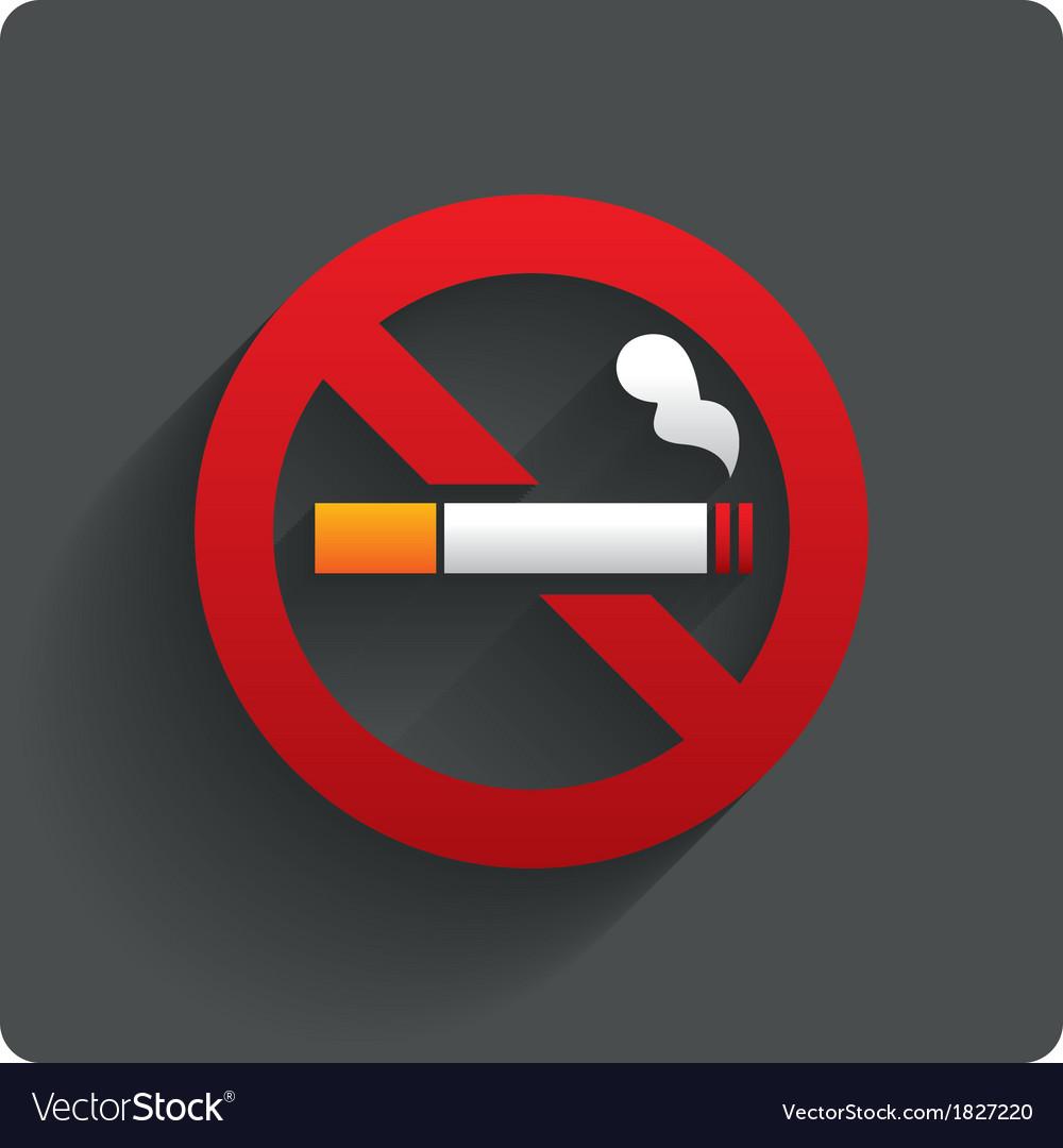 No smoking sign no smoke icon stop smoking vector | Price: 1 Credit (USD $1)