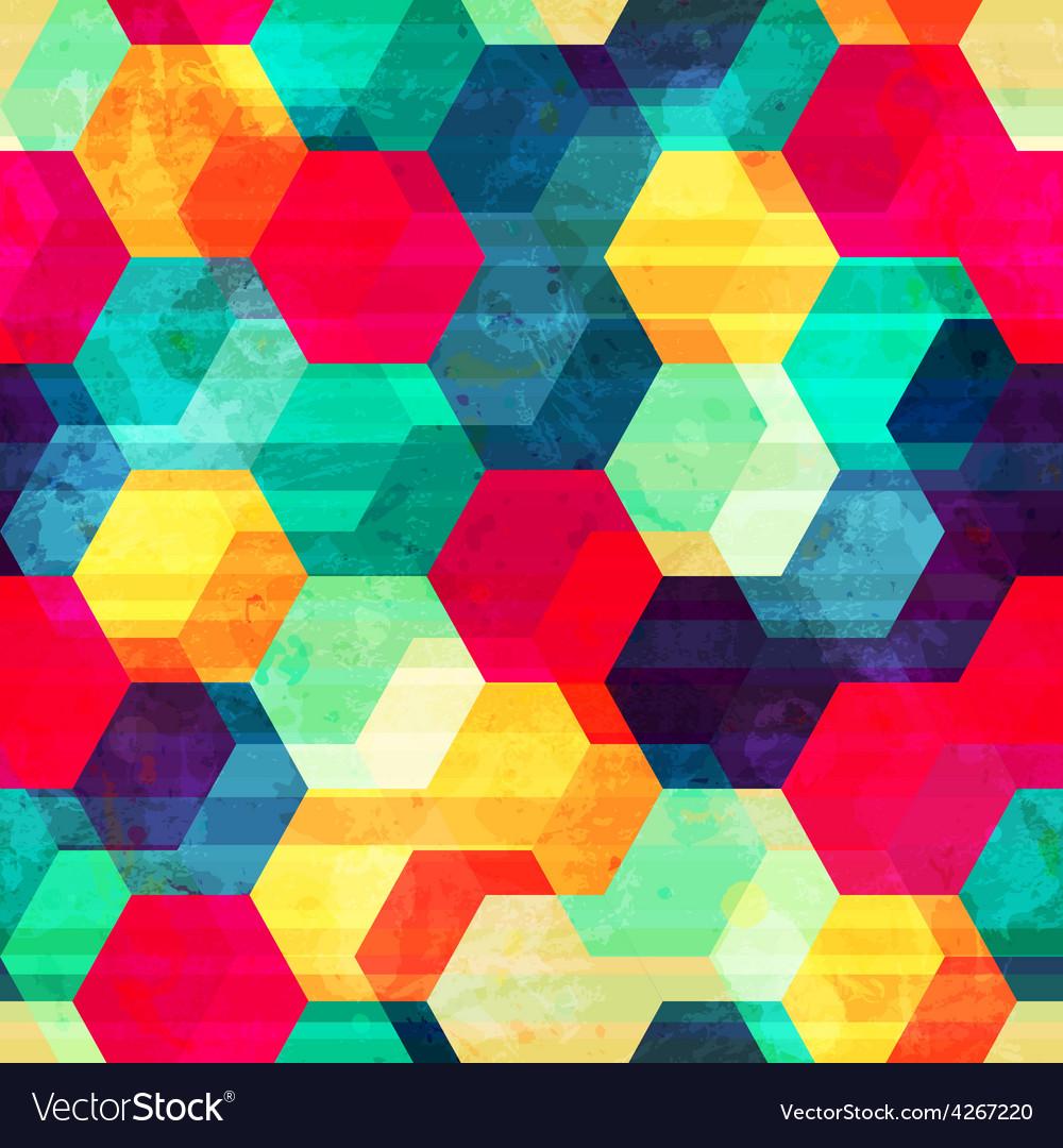 Retro rhombus seamless texture vector   Price: 1 Credit (USD $1)