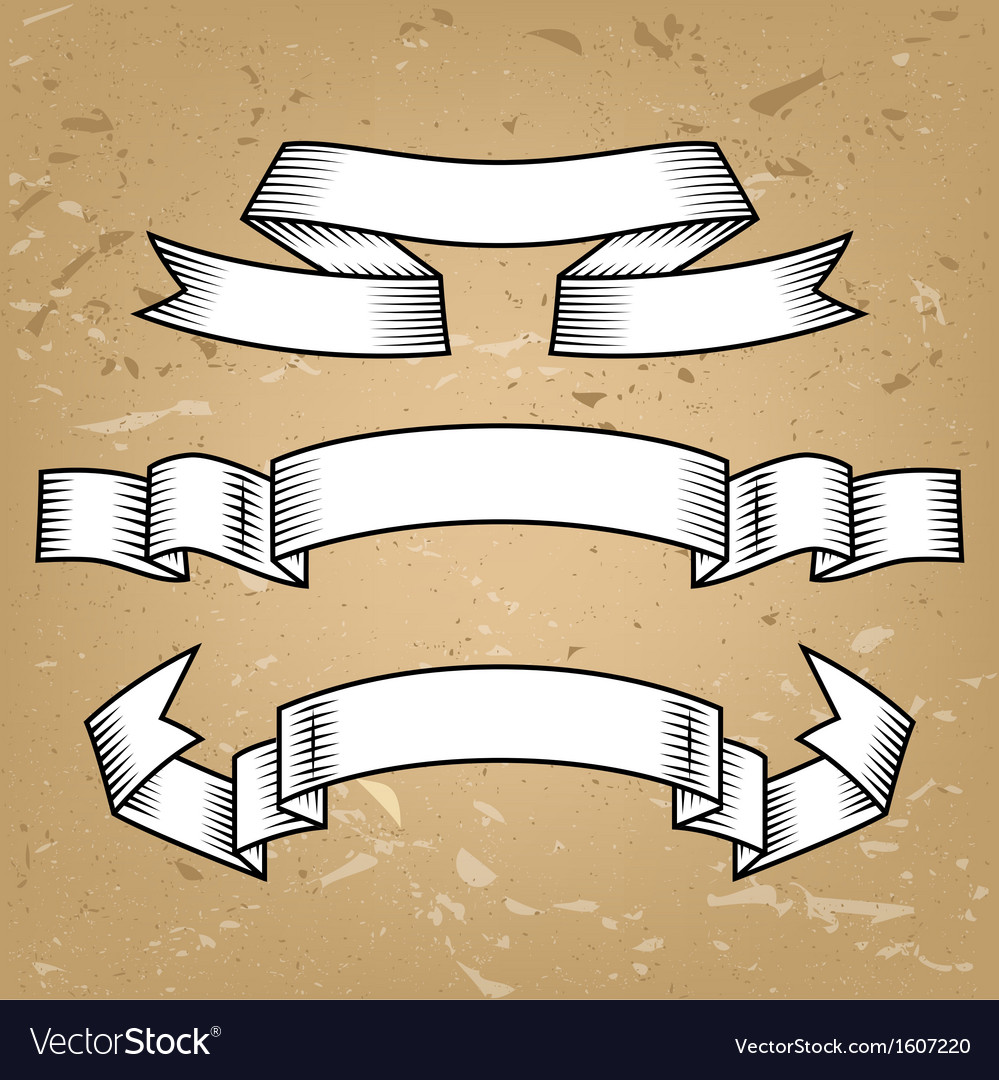 Set of retro ribbons vector | Price: 1 Credit (USD $1)