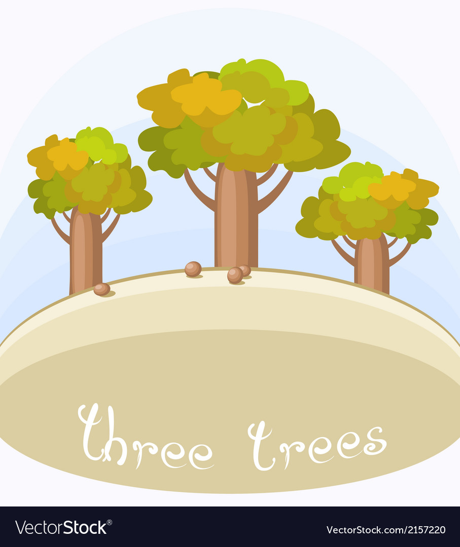 Three bottle trees vector | Price: 1 Credit (USD $1)