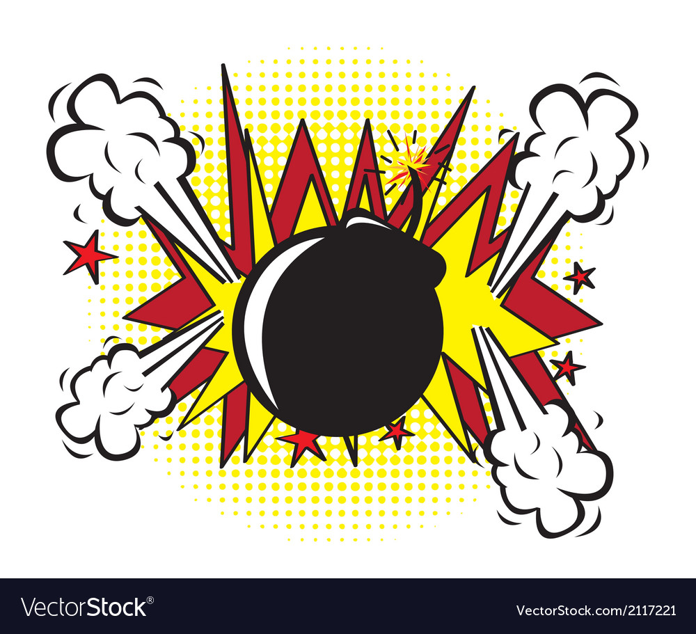 Bomb pop art vector | Price: 1 Credit (USD $1)